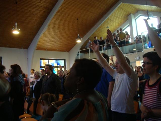 Service with Randy Clark in Schwabisch-Hall