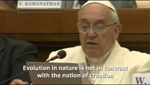 Pope Evol Speech Oct2014