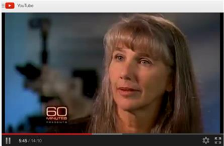 Mary Schweitzer on 60 Minutes, Nov 2009. Source: YouTube