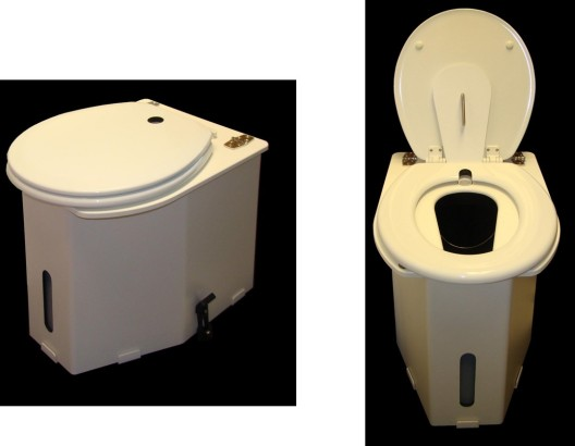 C-Head Urine-Diverting Toilet. Photos by Sandy Graves.