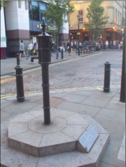 The replica Broad Street Pump in Soho. http://toilet-guru.com/cholera-pump.php