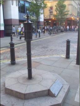 The replica Broad Street Pump in Soho. http://toilet-guru.com/cholera-pump.php