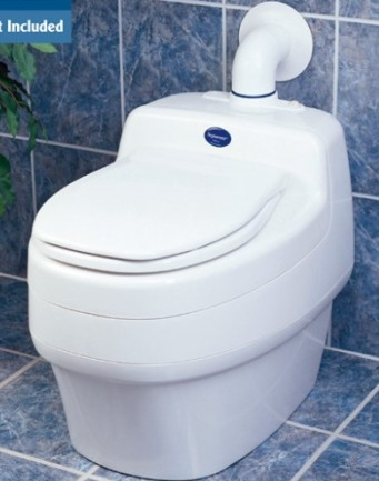 Separett Villa 9200 urine-diverting toilet.   http://www.separett-usa.com/index.php/waterless-urine-diverting-toilet.html