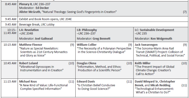 Part of schedule for 2015 ASA Annual Meeting