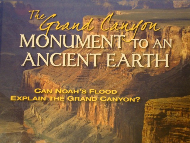 "Part of cover of ""The Grand Canyon: Monument to an Ancient Earth"""