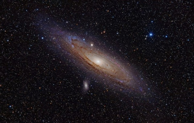 Andromeda Galaxy http://en.wikipedia.org/wiki/File:Andromeda_Galaxy_(with_h-alpha).jpg