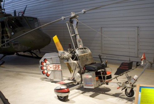 Bensen model B-8M in Canada Aviation Museum. https://en.wikipedia.org/wiki/Bensen_B-8