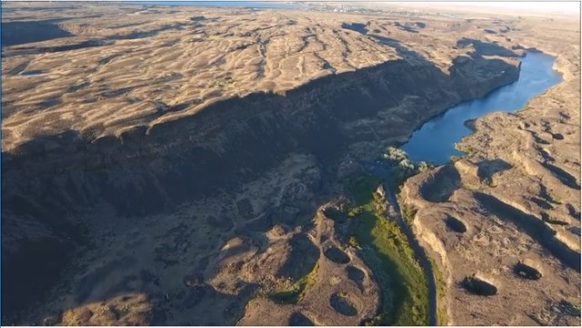 Scablands aerial potholes